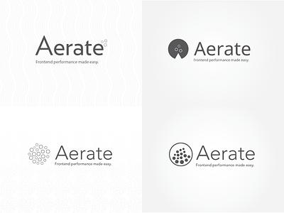 Aerate logo identity exploration identity branding logos