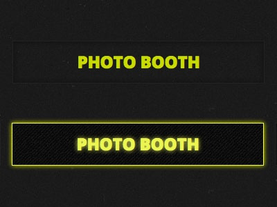 Photo Booth hover states css3 transition