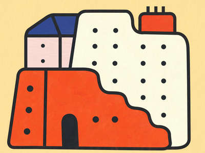 buildings with rounded edges buildings colorful