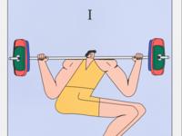 gym tarot card one: squat