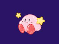 Kirby colour minimal line art cute art design illustration