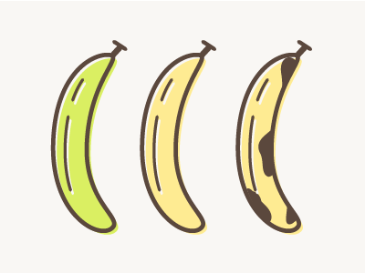 Bananas illustration food fruit