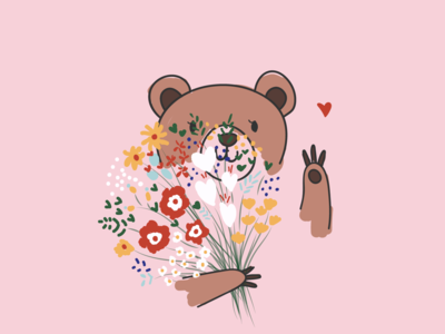 Flower and Bear