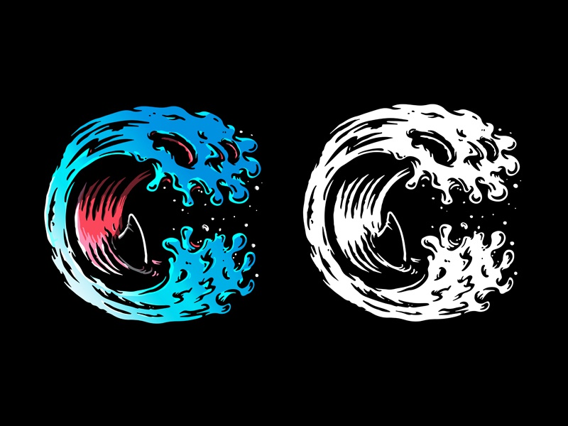 Clutter Mag logo challenge typography skull vector design merch design logo illustration branding @ark-eleven