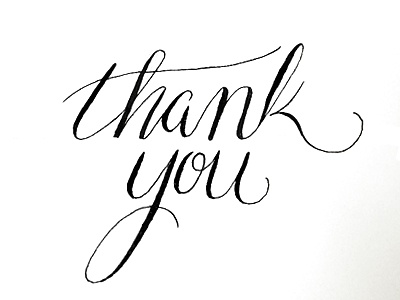 Thank you calligraphy by devon hosford dribbble Thank you in calligraphy writing