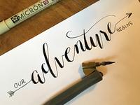 Our Adventure Begins - Wedding Logo