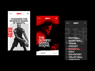 C19 - 003. Mobile. web design figma design direction art direction concept sport typography mobile design ui web ux user interface