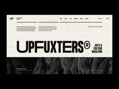 UP® - 001. Monochrome Layout Exploration design direction art direction web design ecommerce typography design web ux ui user interface