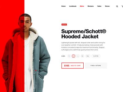 Supreme NY clothing  brand clothing supreme layout ecommerce store shop product website web ux ui