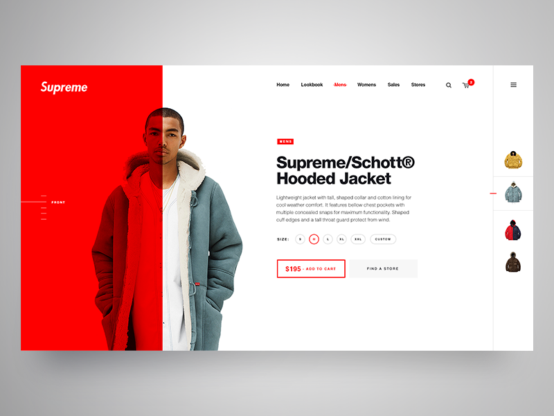 Supreme NY clothing  brand clothing supreme layout ecommerce store shop product website web ux ui