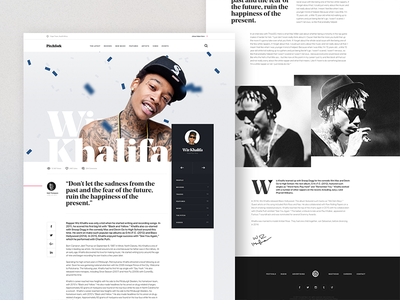 Further Pitchfork Artist Profile Exploration web ui typography sketch profile page editorial design cards artist article