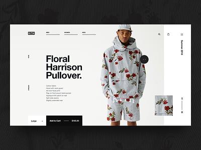 Kith PDP Exploration typography ux user interface ui design web shopping ecommerce details product kith clothing