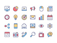 Marketing Icon Set icon free