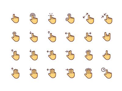 Gesture Icon Set icon free