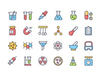 Chemistry Icon Set icon free