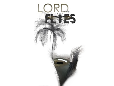 Lord of the Flies. The island. Looking up at our dark side. photography drawing student project book cover illustration watercolor photoshop