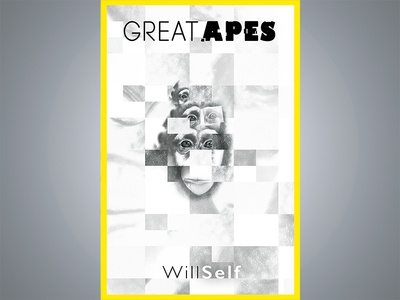 Great Apes Book Cover illustrator photoshop hand-rendered typography drawing illustration graphic design