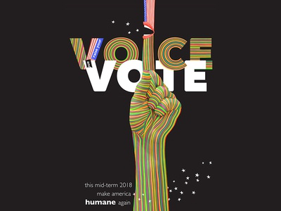 Raise your Voice & Vote Poster graphic design astropad typography photoshop poster