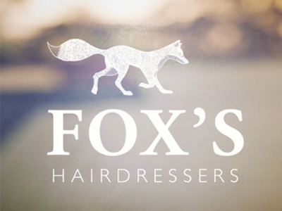 Fox' Hairdressers fox hair hairdressers salon illustration logo branding brand typography tail gillsans