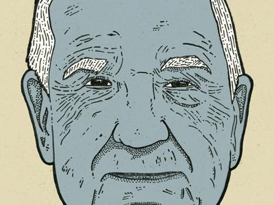 Bamp wrinkles old man