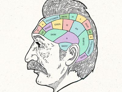 Albert Einstein einstein brain illustration moustache albert einstein hand-type colour quote