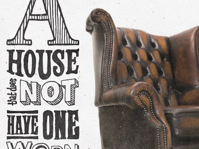 Chair quote chair typography texture pen hand drawn