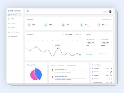 Service Providers Management Dashboard 👨💻 ✨ provider serives service providers dashboard designs ui ux typography ux ui design