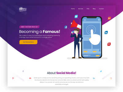 Social Media Website Design