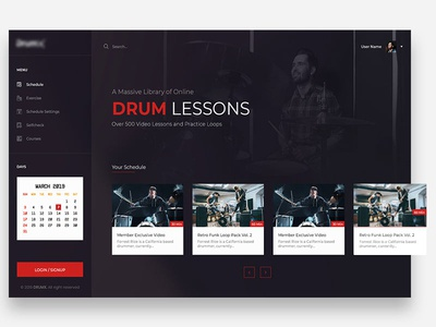 E-Learning Drum Lessons Design