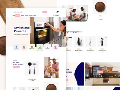 Home Appliances Shop - Template Design adobe ux clean modern template ui wordpress ecommerce shop website webdesign creative