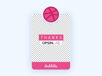 Dribbble Thanks wordpress design ui website pink dribbble invite