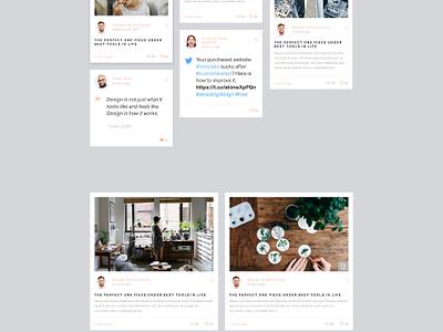 Blog website webdesign ui layout wordpress post magazine feed minimal clean grid blog