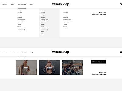 Fitness Shop ecommerce creative webdesign shop clean template wordpress website
