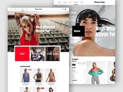 Fitness Shop ecommerce creative webdesign shop clean template wordpress website