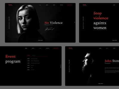 Photographer Event - Template Design minimal ui typography creative webdesign dark clean wordpress website