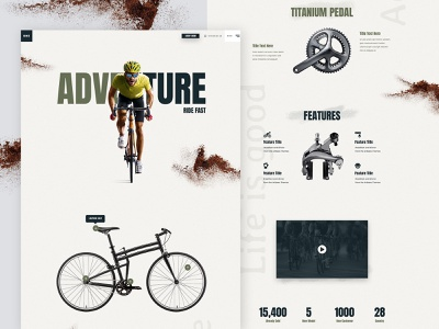 Bike Shop - Template Design wordpress design adobe webdesign web design creative clean shop typography wordpress sport ui website