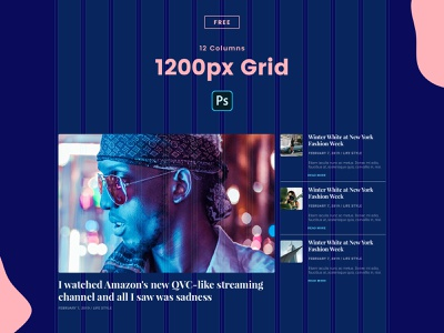 Freebie | 1200px - 12 Columns Grid PSD freebies wordpress adobe design creative ux ui webdesign minimal clean grid website photoshop freebie