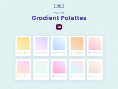 Freebie | Gradient Palettes color palette gradient branding freebies logo illustration creative typography webdesign website ui adobe adobe xd freebie