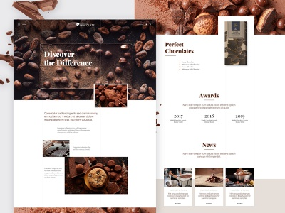 Chocolate Producer - Template Design shop ux typography template brown clean wordpress ui webdesign creative website food