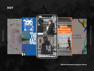 Various Instagram stories phone brand animation branding story layout mockup stories instagram motion design