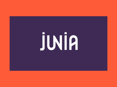 JUNIA - 01 school kinectic typography kinetictype typography explainer video branding flat design animated logo logo rebranding design animation motion design