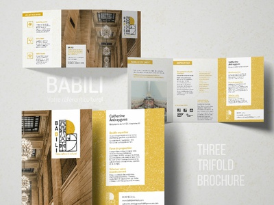 Babili - 3 trifold brochure brand identity brochure flyer layout design trifold print