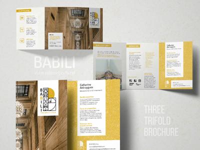 Babili - 3 trifold brochure