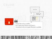 CELINE - User journey - minimal UI