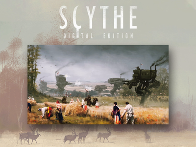Scythe Digital Edition Launch campaign game board game painting 3d 2d illustration animation character animation design character motion design