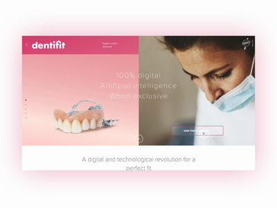 Dentist Landing Page parallax hover interactive design animation clean pink dentist website ui landing page ui landingpage
