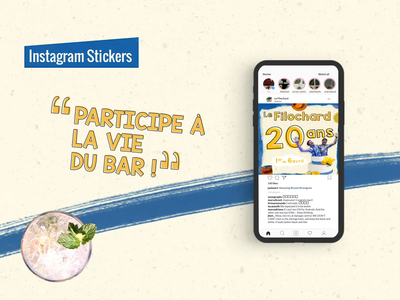 Bar - Instagram GIF stickers instagram stories social media branding instagram stickers gif 2d character animation illustration character design animation