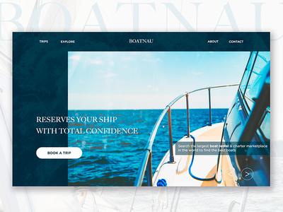 Boat Rental concept