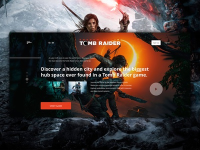 Shadow of the Tomb Raider - Web flat web ux ui design