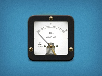 Geiger counter radioactivity reactor geiger counter meter gauge icon ios iphone ipad